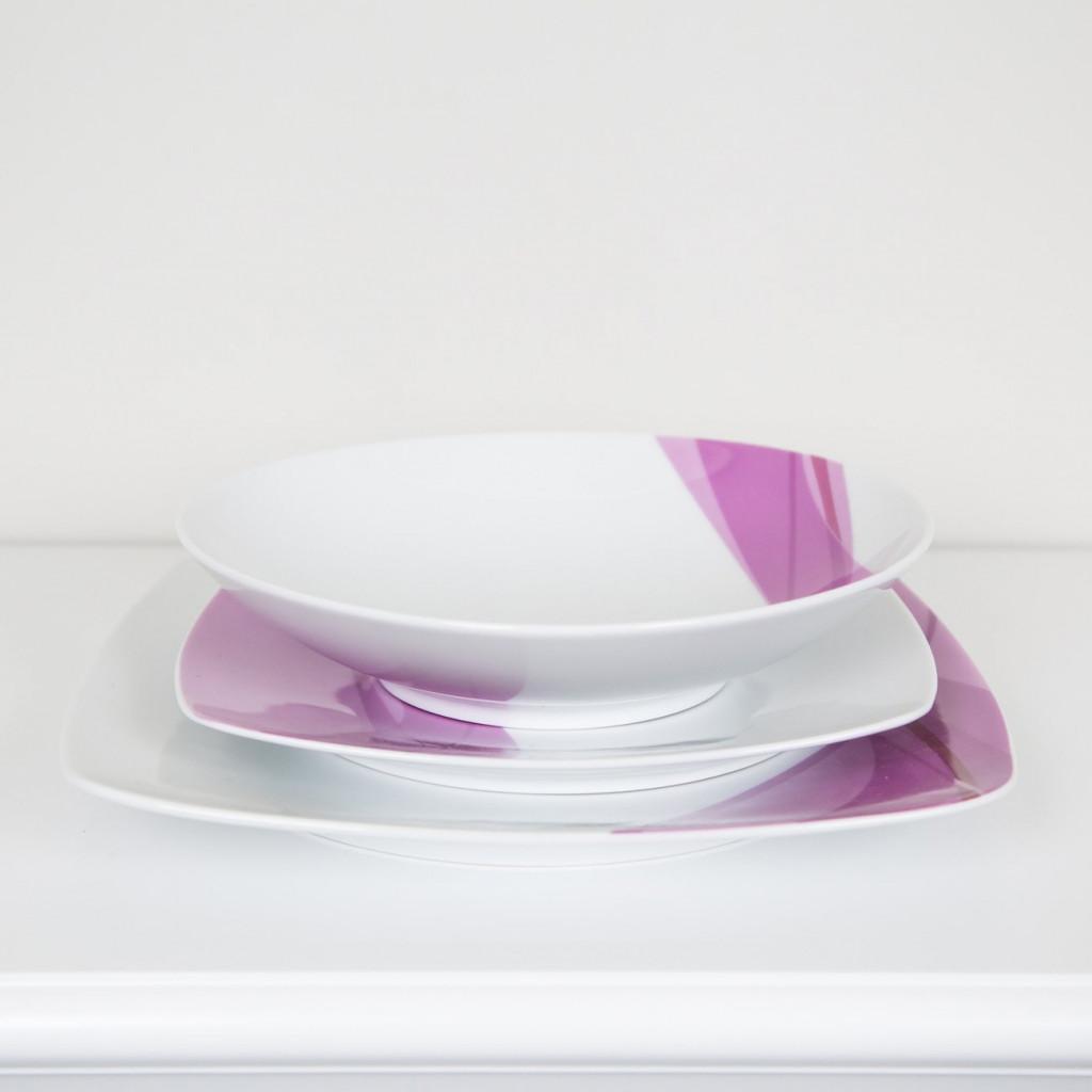 Piatti quadrati colorati trattamento marmo cucina - Servizio piatti quadrati ikea ...